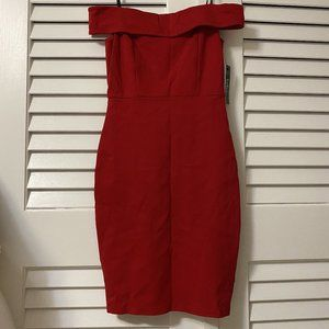 Red | Off-the-shoulder Bodycon Dress | Lulus